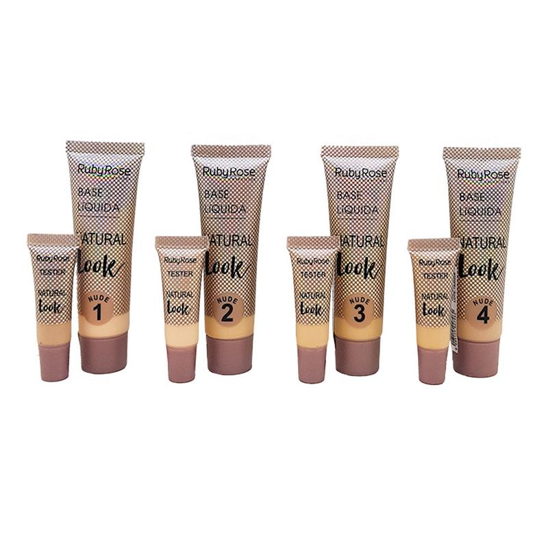BASE LIQUIDA HB-8051 base liquida, base liquida ruby rose, base ruby rose, maquiagem ruby rose Beleza & Saude