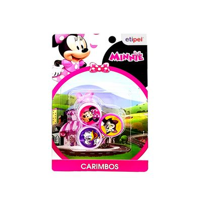 KIT C/3 CARIMBOS MINNIE DYP-240 KIT CARIMBOS DA MINNIE-Papelaria
